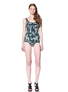 MARNI Women's One-Piece Swim Suit (Deep green)