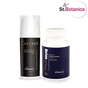 StBotanica Cupidrex Serum and Butea Superba Capsules - Health Supplements by EMMBROS OVERSEAS