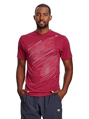 Wilson T-Shirt M Su Blur Plaid V-Neck Merl