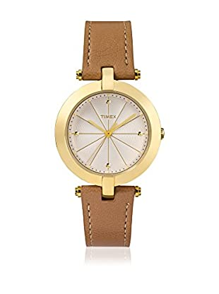 TIMEX Reloj de cuarzo Woman Greenwich Marrón Claro 32 mm