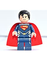 LEGO Man of Steel Superman Theme - Superman Minifigure (2013 Version) with Dual-sided Head