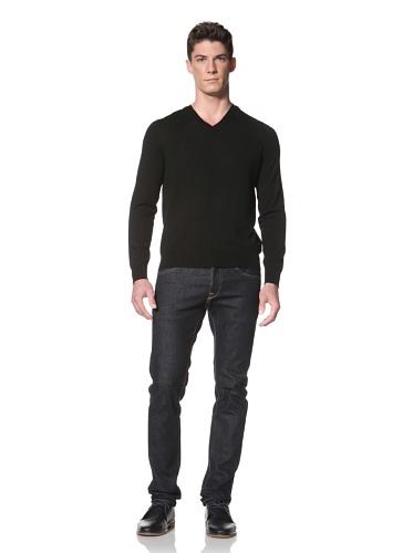 Cullen Men's V-Neck Sweater (Black)