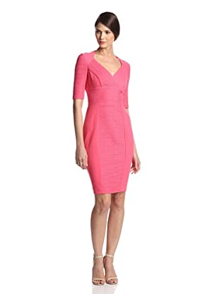 Nue by Shani Women's Crossover V-Neck Ottoman Dress (Coral)
