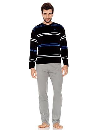 Abanderado Pijama Double Stripes (negro)
