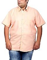 Xmex Men's Cotton Regular Fit Shirt (KR-257ORANGE_5XL, PeachPuff, 5X-Large)