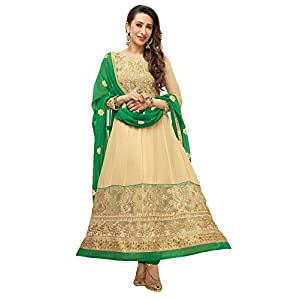 Valuze Karishma Kapoor Anarkali Suits - Cream & Green