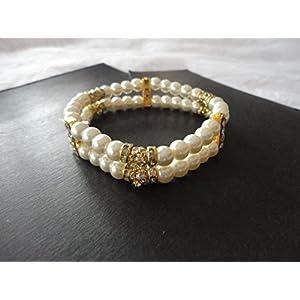 Mona Jewels Two Stringed Elegant Pearl Bracelet