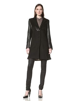 Sam Edelman Women's Wool Coat with Sequins (Black)