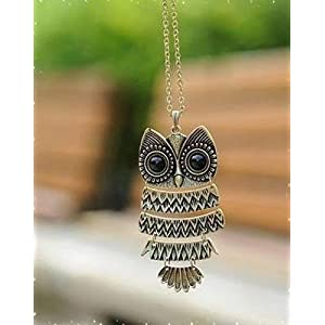 Owl Necklace in Bronze