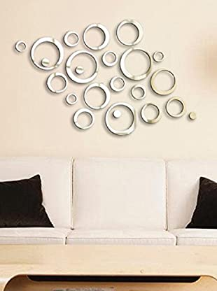 Ambiance Sticker Wandtatoo-Spiegel Reflective Mirror Design Rings