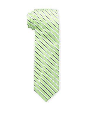 Bruno Piattelli Men's Striped Tie, Green