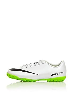 Nike Botas Fútbol Jr Mercurial Victory Iv Tf (Blanco / Verde)