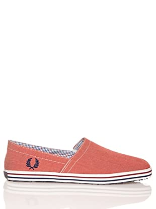 Fred Perry Deportiva Kingston Stampdown Chambray (Rojo)