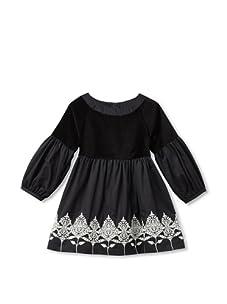 Tea Collection Girls Girl's Bucharest Floral Dress (Black)