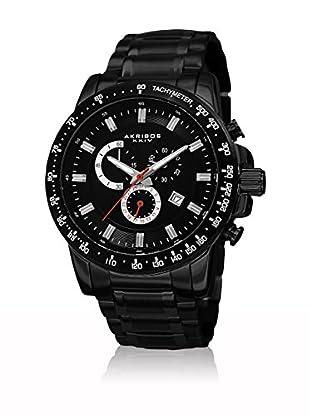 Akribos XXIV Uhr mit schweizer Quarzuhrwerk Man schwarz 48 mm