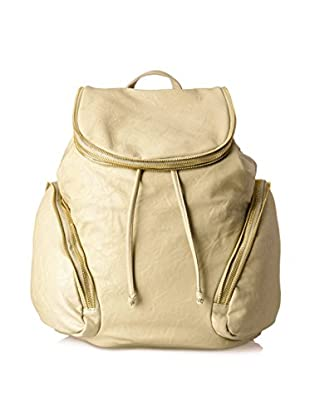 Nila Anthony Women's Zipper Detail Backpack, Taupe