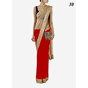 Get Style at Home Bollywood Replica Saree - Red
