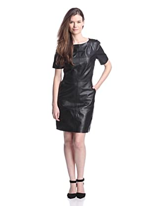 W118 by Walter Baker Women's Candace Leather Dress (Black)