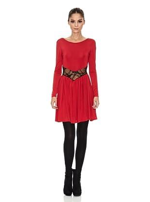 Rare London Vestido Lace Insert (Rojo)