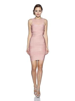 Corizzi & Absolu Vestido Canesú Transparente Cóctel (Rosa)