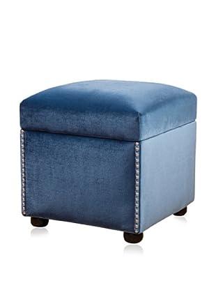 Jennifer Taylor Home Carmella Storage Cube, Teal Blue