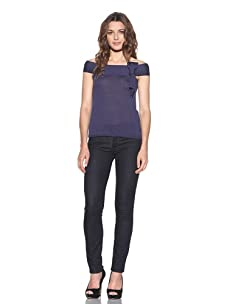 RED Valentino Women's Off-The-Shoulders Top (Navy)