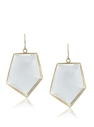 Plukka Women's Rock Crystal Prism Earrings