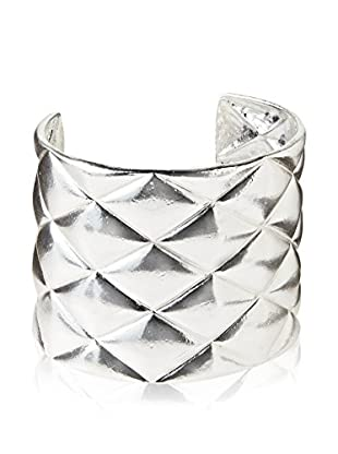 Karine Sultan Jewelry Silver Quilted Cuff