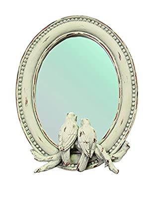 The Import Collection Songbirds Mirror, Ivory