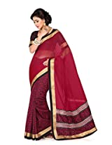 De Marca Black Silk G-331 Saree