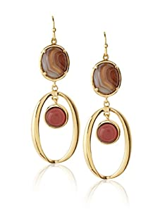 Courtney Kaye Agate Crystalline Earrings, Gold