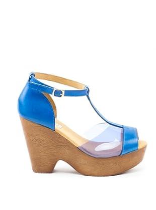 Misu Peeptoe-Sandalette Vinyl (Blau)