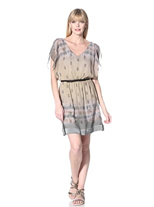 Hale Bob Women's Flutter Sleeve Dress (Taupe)