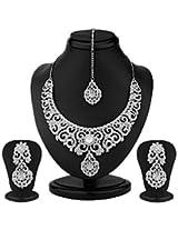 Sukkhi Ravishing Gold Plated Australian Diamond Necklace Set