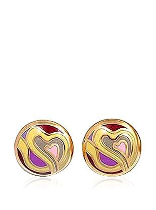 ROSE SALOME JEWELS Ohrringe GE016L vergoldeter Stahl 18 Karat