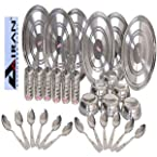 Airan 30 Pcs 100% Stainless Steel Dinner Set