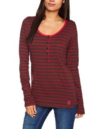 Lee Camiseta Henley (Rojo oscuro)