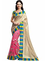 Vipul Silk Saree (11439 _Pink)