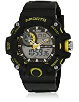 Dmf-006-Yl01 Black/Black Analog & Digital Watch Flud