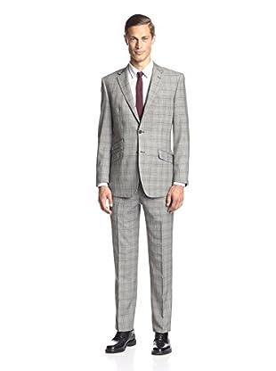 English Laundry Men's Glen Plaid Suit