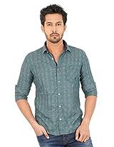 KILLER Green Cot Casual Shirt