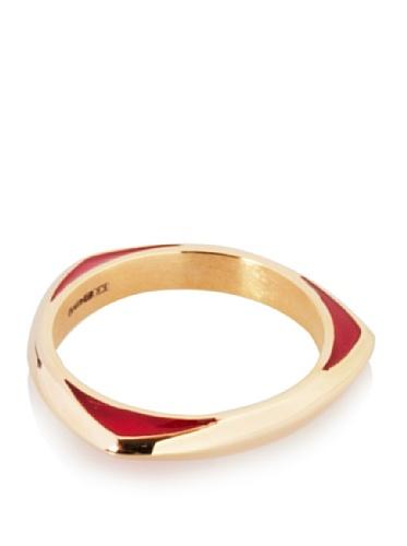 Katie Rowland Lilith Enamel Tri Stacker Ring (Pink Pop)