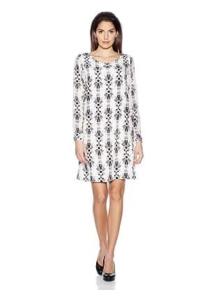Selected Vestido All Zebra (Blanco)
