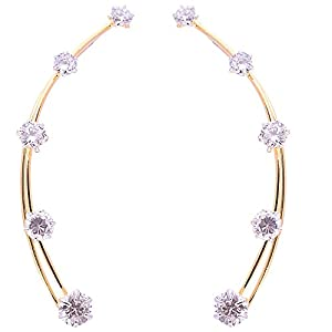 Ashiana American Diamond Solitaire ear cuff d6 (pair)