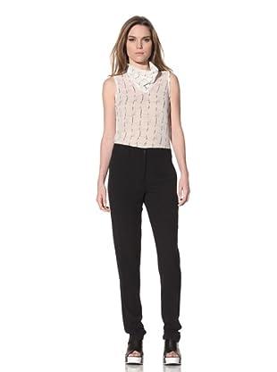 Ann Demeulemeester Women's Crepe Trousers (Black)