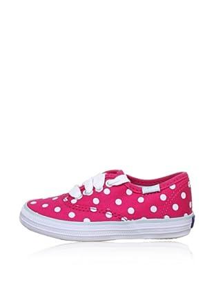 Keds Kids Sneaker (Pink (Raspberry/White Polka Dots))