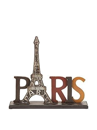 Eiffel Tower Wood Table Décor, Multi
