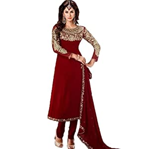 Maroon Zari Work Salwar Suit