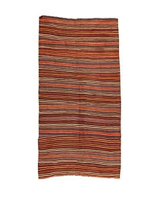 Design Community By Loomier Teppich Kilim Caucasico rot/mehrfarbig 144 x 291 cm