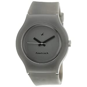 Fastrack Tees Analog Grey Dial Unisex Watch
